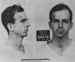 These images from Lee Harvey Oswald's arrest card appeared in the Warren Commission Report.
