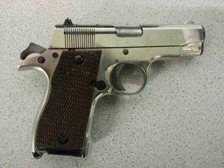 This  .380 semi-auto handgun was recovered in the 2300 block of Hartford Street in D.C. Wednesday night.