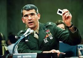 During the Congressional hearings, Lt. Col. Oliver North admitted that he had lied to Congress.