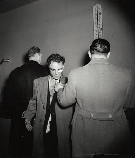 "Famed photographer Arthur ""Weegee""Fellig who revoluntionized crime photrography, captured this famed photo of Anthony Esposito two days after the Manhattan shootout."