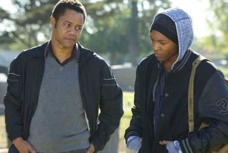 Cuba Gooding Jr. as Eugene and Malcolm M. Mays as Tahime in Life of a King. (Millenium Entertainment)