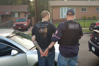 "Prince George's County Sheriff's Deputies served domestic-violence related warrants on nearly 60 people during a ""Operation Broken Heart"" sweep this week. (Photo Prince George's County Sheriff's Office)"