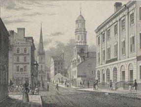 Wall Street as it looked in 1831.