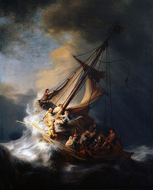 "Rembrant's ""Storm on the Sea of Galilee"" (Wikipedia)"